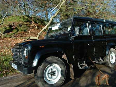 Warden Safari by Landrover at Hawkstone Park Follies