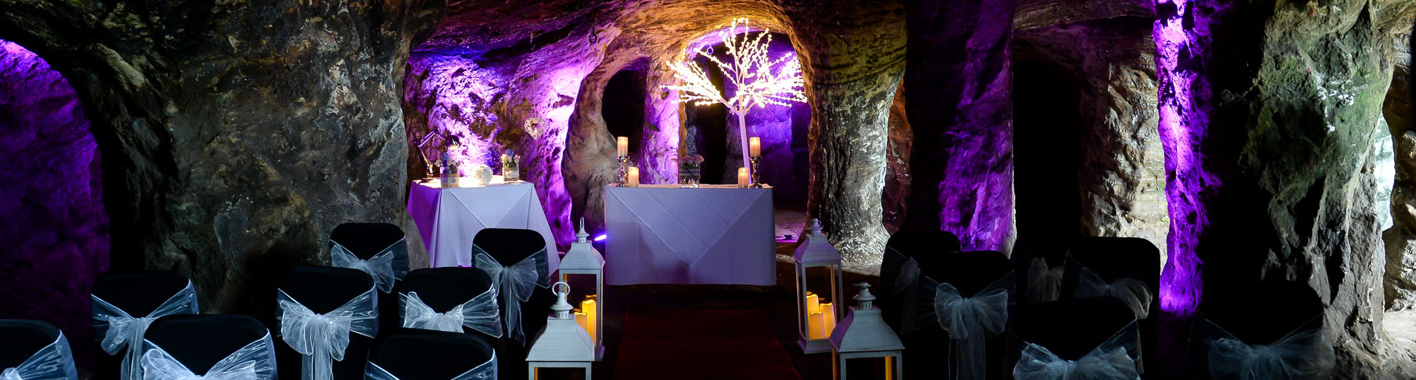 Wedding in the Grotto at Hawkstone Park Follies Shropshire